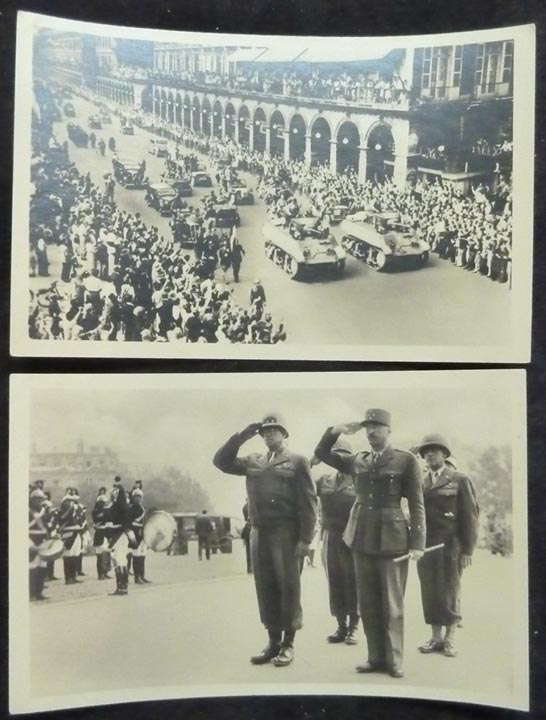 WW2 RPPC Real Photo Post Cards Liberation de Paris - Click Image to Close