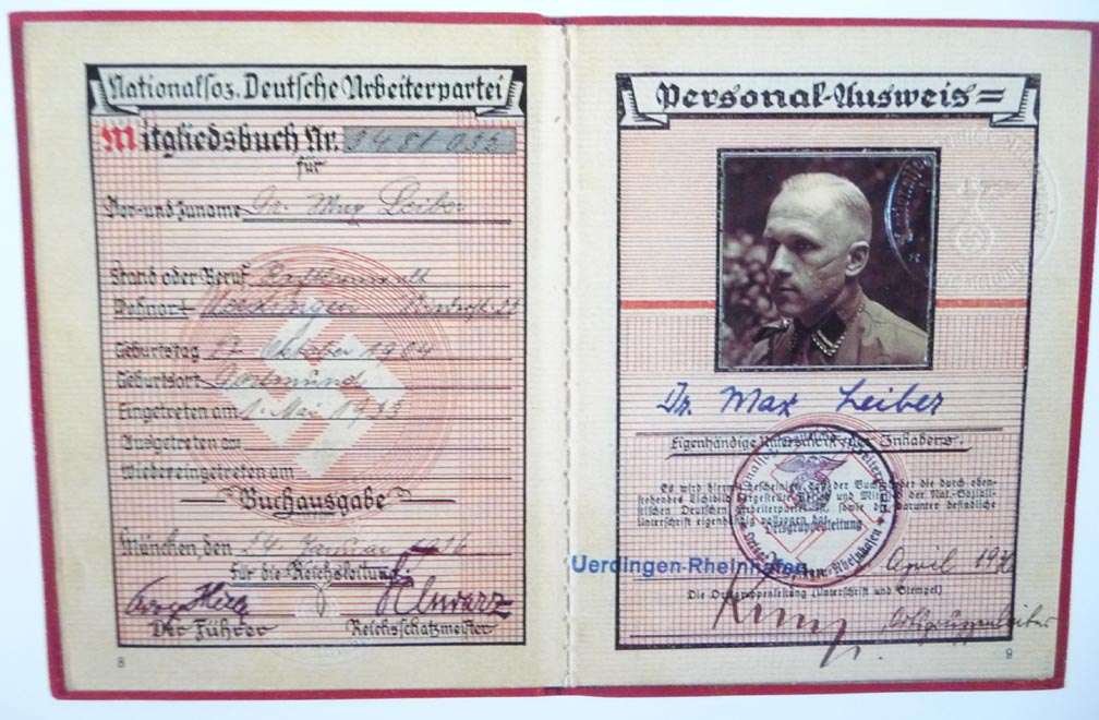 and Authorizations of the Third Reich Permits Identity Documents Revised Papers Please